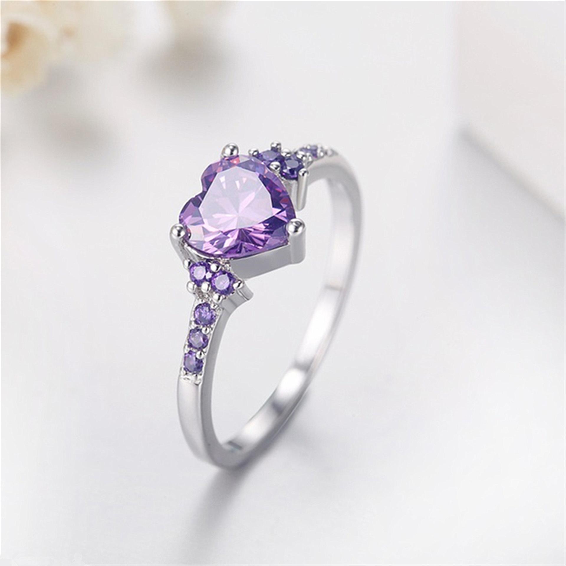 Natural Amethyst Wedding Ring | ohiogem