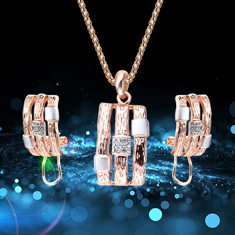 Alloy Simple  necklace  61172407 rose alloy NHXS177161172407rosealloy