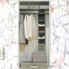 Non-woven underwear 5-layer collapsible non-woven fabric storage bag hanging wardrobe storage bag