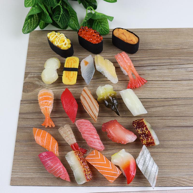 仿真寿司 模型 食品玩具日本食物拍摄摆设装饰道具 三文鱼 虾料理