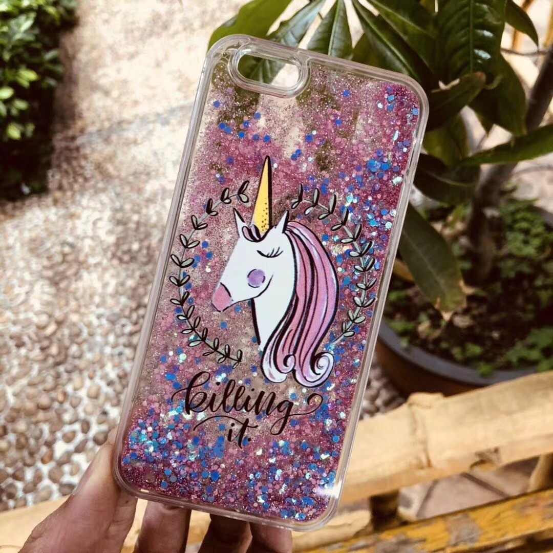 Girl style sand unicorn apple 7 mobile phone shell iphone6 ​​plus soft tpu side protective cover foreign trade hot money