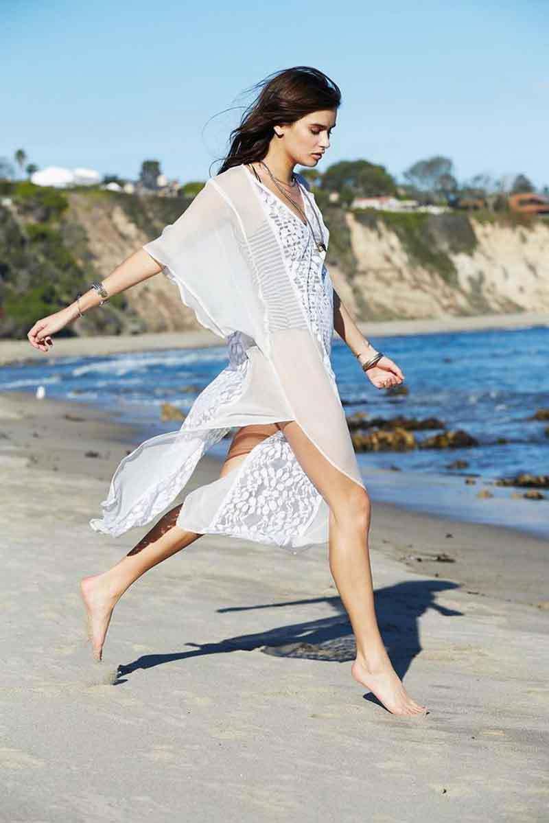 Chiffon Fashioncoat(White - One Size) NHXW0557-White-One-Size