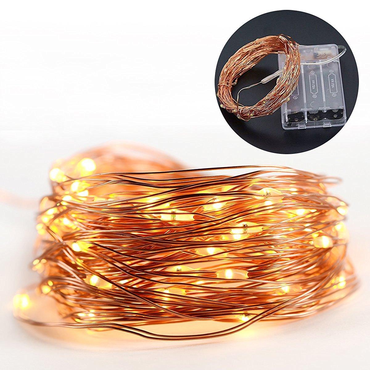 厂家直销电池盒铜线灯串led铜线灯节日婚庆圣诞装饰灯铜丝彩灯