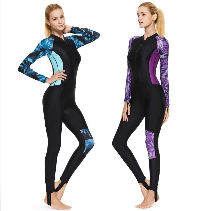 鲨巴特全身连体泳衣 女紧身潜水服 水母衣 冲浪服 潜水衣 浮潜服