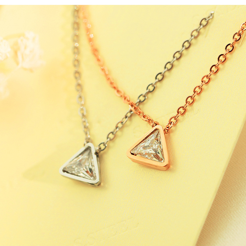 Titanium&Stainless Steel Fashion Geometric necklace  (Steel models) NHOP2730-Steel-models