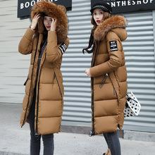 棉衣批发冬天女 中长款新款棉服加厚棉袄棉衣欧美防寒保暖显瘦潮