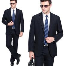 专柜西服套装男修身商务职业上班正装高端羊毛西装男套装结婚礼服