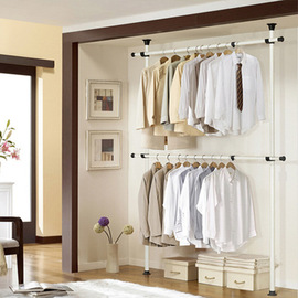 Wardrobe simple Korean steel rack cloth wardrobe lifting bedroom wardrobe assembly receiving cabinet reinforcement combination cloakroom