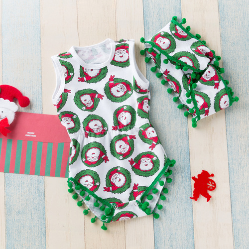 Baby birthday party dresses watermelon leopard sleeveless creeping suit