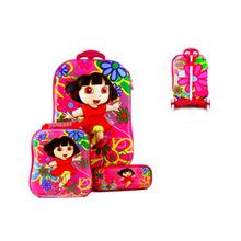 厂家直销新款可爱卡通3D减负防水学生拉杆书包儿童拖行旅行箱批发