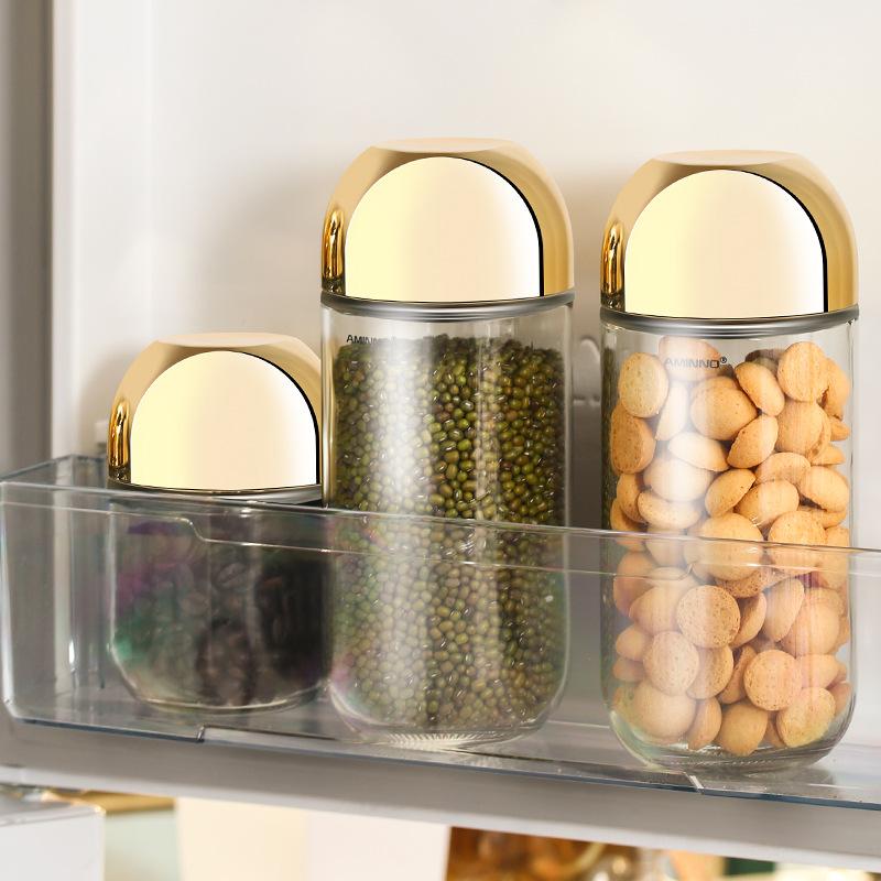 艾美诺 透明无铅密封玻璃收纳储物罐创意杂粮糖果储物罐厂家批发