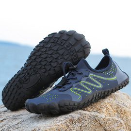 Thick soled swimming shoes, beach hiking shoes, outdoor traceability shoes, couples' large men's five-fingered shoes