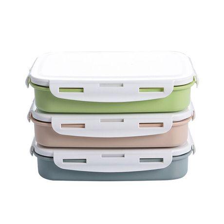 304 thép không gỉ bữa ăn trưa ăn nhẹ cai trị ủ hộp vườn ươm sinh viên niêm phong chống lại khay ăn nhẹ nóng Hộp chiên, hộp ăn trưa