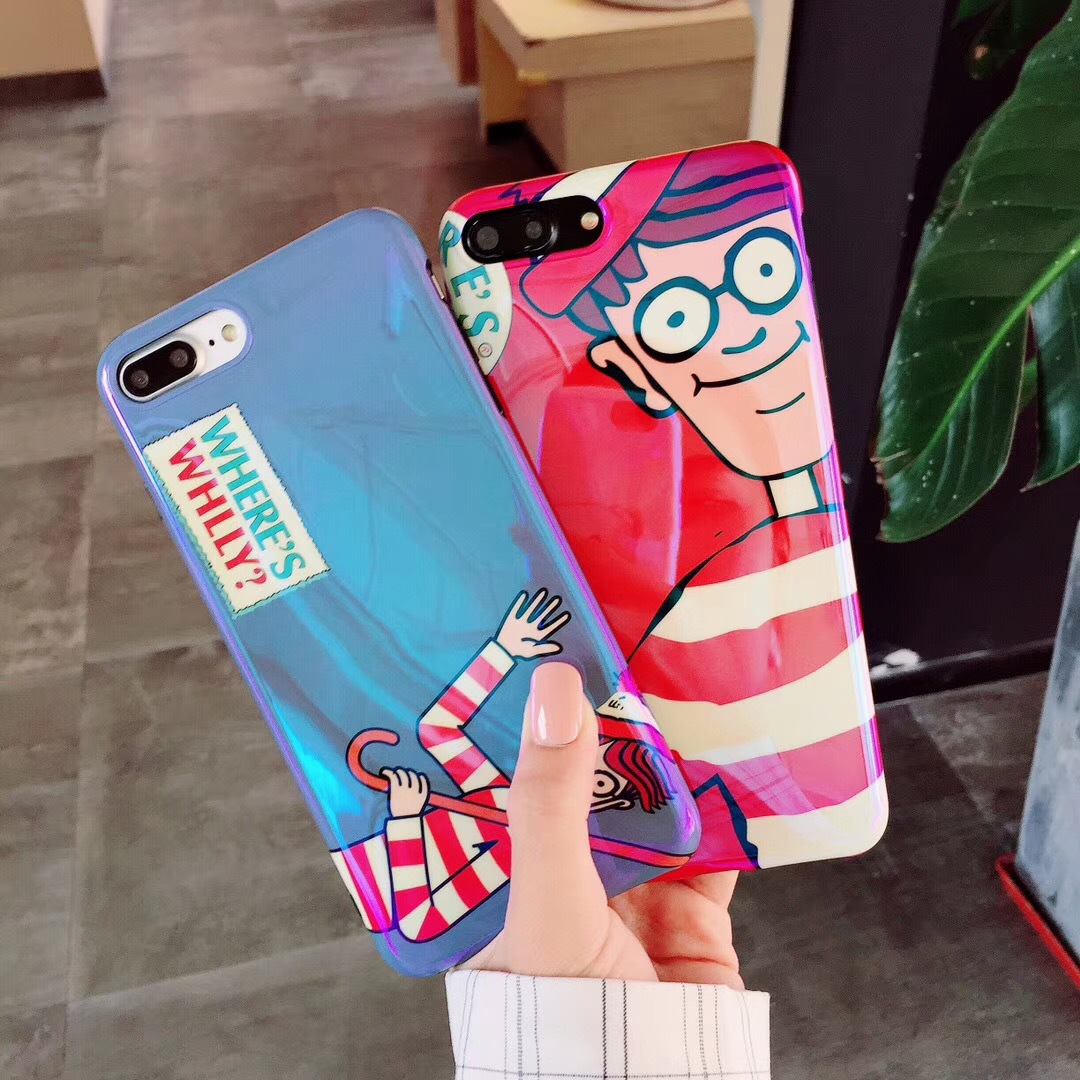 Couples Willy Comic Warm Men iPhoneX Mobile Shell Creative Blu-ray Tpu Apple 8 Protection Mobile Phone Case