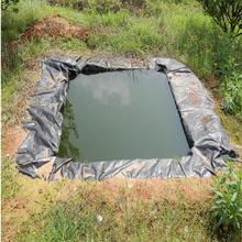 人工湖鱼塘聚乙烯材质黑色白色土工膜医学废弃池用易铺设柔软定制