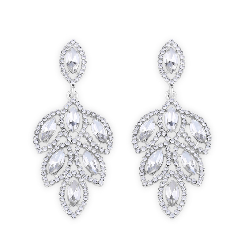 Imitated crystalCZ Fashion Geometric earring  Alloy  Fashion Jewelry NHAS0468Alloy
