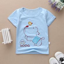 2018地攤批發嬰兒寶寶短袖T恤夏季竹節棉男童兒童t恤純棉5元童裝