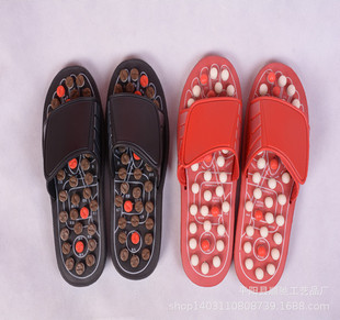 Manufacturers wholesale rotary massage slippers, round bead stab spring foot point health massage slippers can be customized
