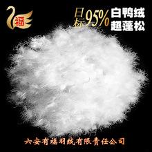 【厂家直销】羽绒羽毛 水洗大朵纯白95鸭绒日标羽绒羽毛批发价格