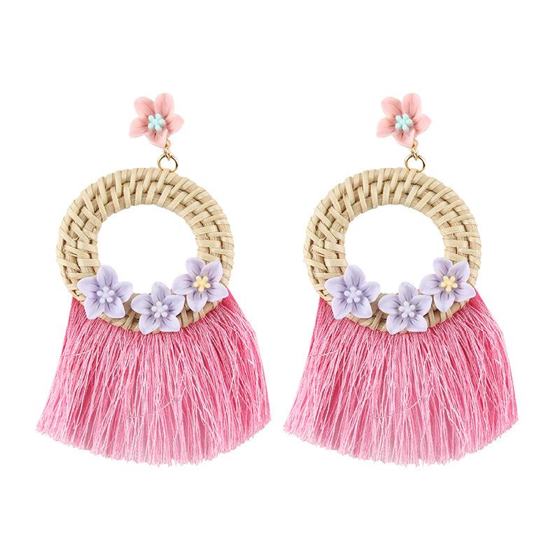 Alloy Simple Tassel earring  (white) NHJQ10622-white