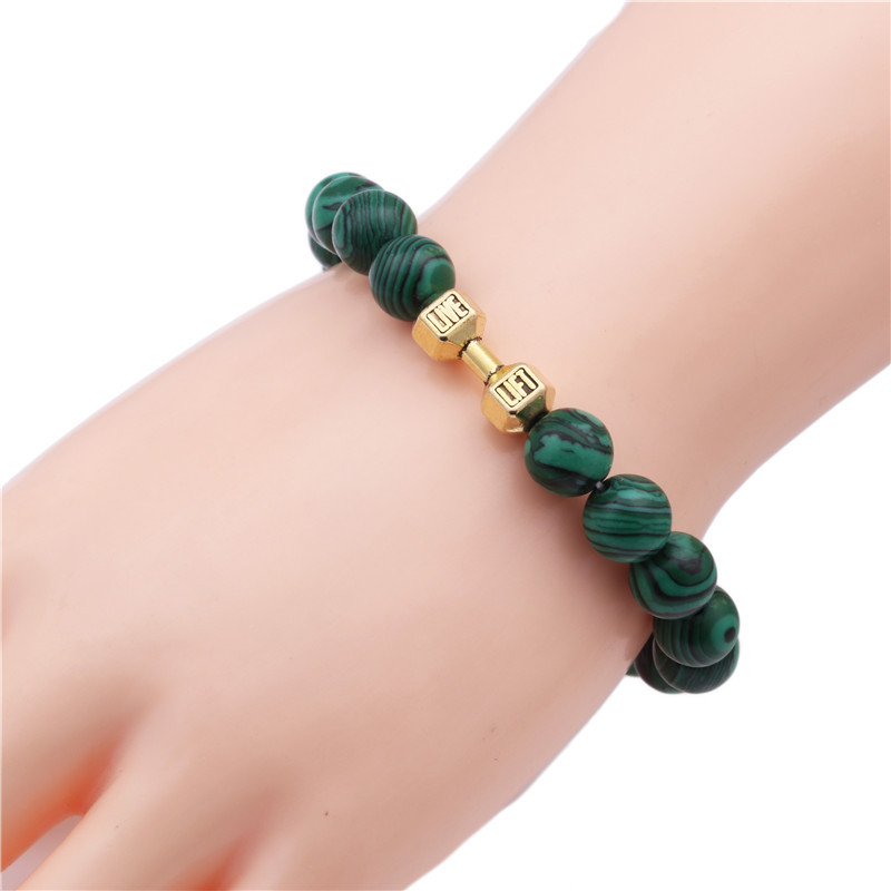 Alloy Fashion Geometric bracelet  (malachite) NHYL0354-malachite