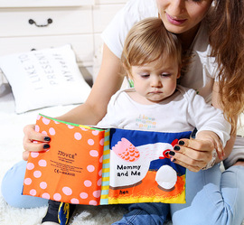 JJOVCE mother and child baby cloth book early education 6-12 months can bite three-dimensional baby educational toys 0-year-old tears not bad