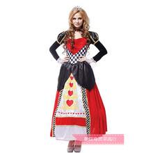 萬圣節服裝cosplay表演服裝成人女皇后公主衣服惡毒皇后服裝