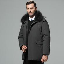 专柜品质中老年男装外套男式新款保暖羽绒服中长款加厚冬装爸爸装