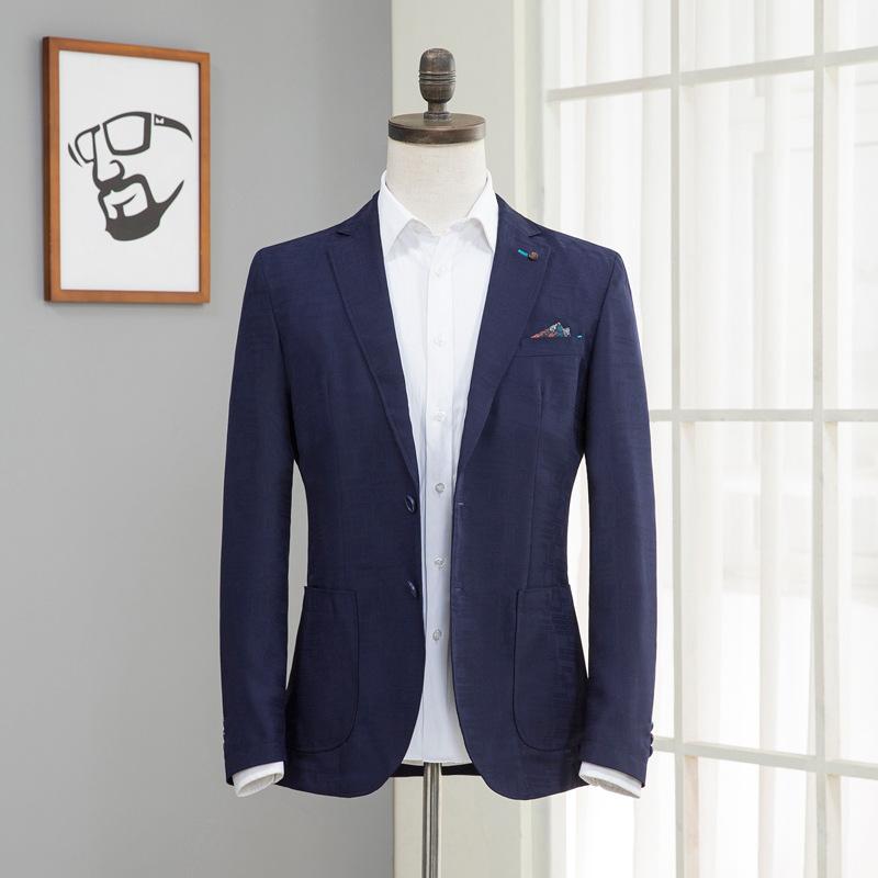 海家剪标 春季超薄小西装男修身单西男士休闲西装外套男小西服