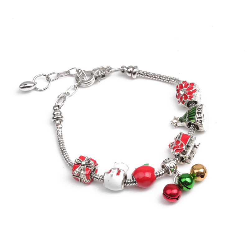 Imitated crystal&CZ Fashion Geometric bracelet  (Christmas tree) NHYL0361-Christmas-tree