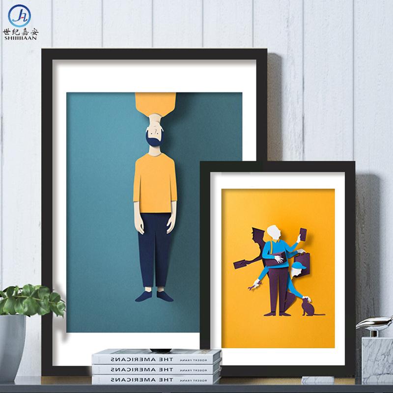 拼图框简约实木相框4K挂墙定制装裱相框画框照片墙儿童木质框摆台