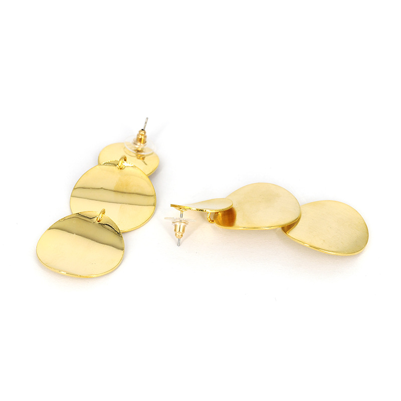 Alloy Fashion Geometric earring(Golden) NHJJ4686-Golden