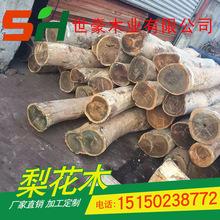 供应绿檀原木  进口木料檀香 红木家具木屋板材 厂家直销