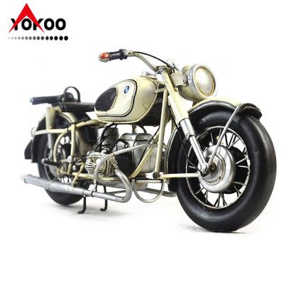 铁艺复古摩托车模型  1960年宝马r60-2摩托车模型  金属工艺品
