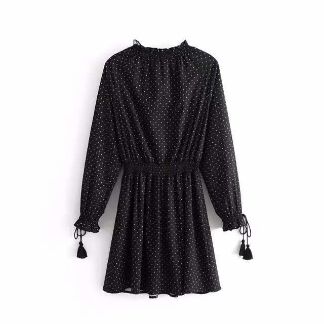 Polyester Fashiondress(Black-L) NHAM2492-Black-L
