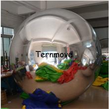 充气PVC材质镜面气球商场舞台装饰美陈气模反光球充气多色镜面球