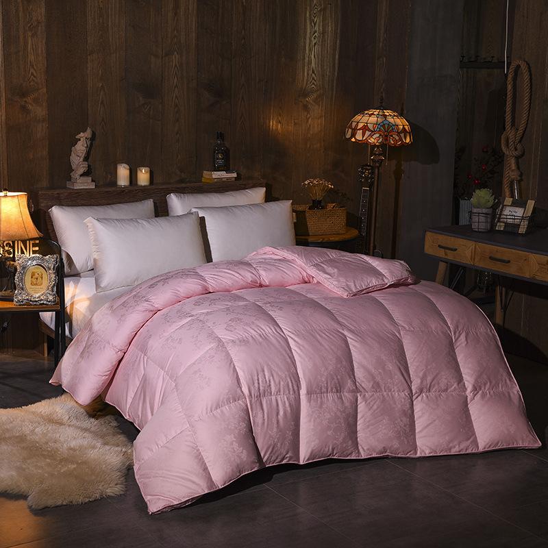 羽絨被95白鵝絨被子定制婚慶加厚全棉冬被棉被 特價批發廠家直銷