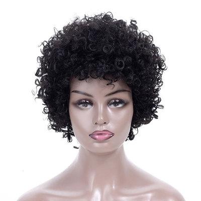 Curly Hair Wigs Exclusive wig, Synthetic wigs women's headgear, African small roll fluffy explosive head Short Wig headgear