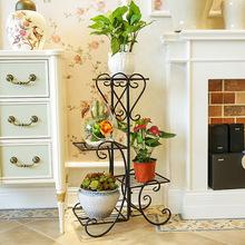 铁艺绿萝客厅花架置物架多层落地花盆架阳台室内装饰北欧式花架子