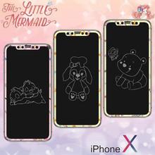 达菲熊iPhoneXs息影钢化膜 适用苹果X维尼熊卡通全屏软边玻璃贴膜