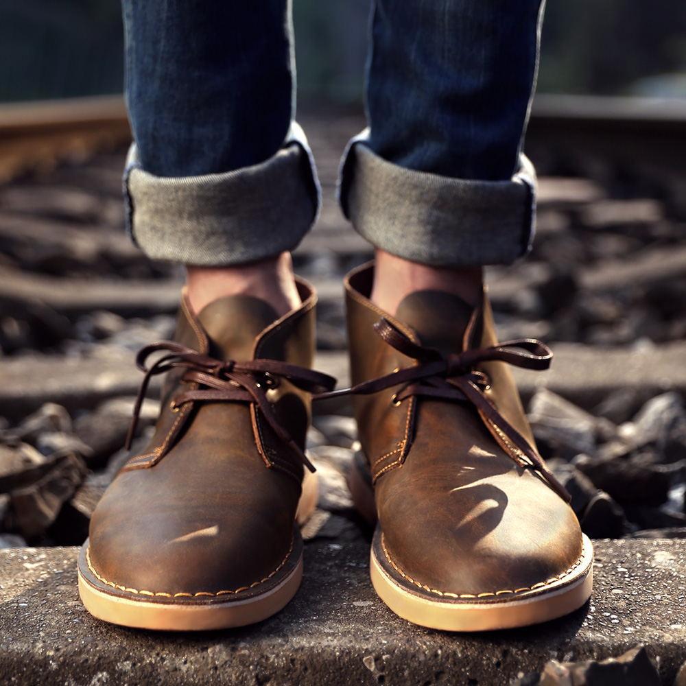 马登春冬马丁靴男靴加绒皮靴子男士高帮雪地短靴沙漠靴工装男鞋