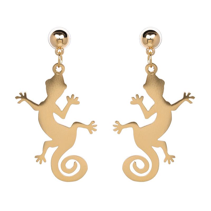 Alloy Fashion Geometric earring(Golden) NHJJ4682-Golden