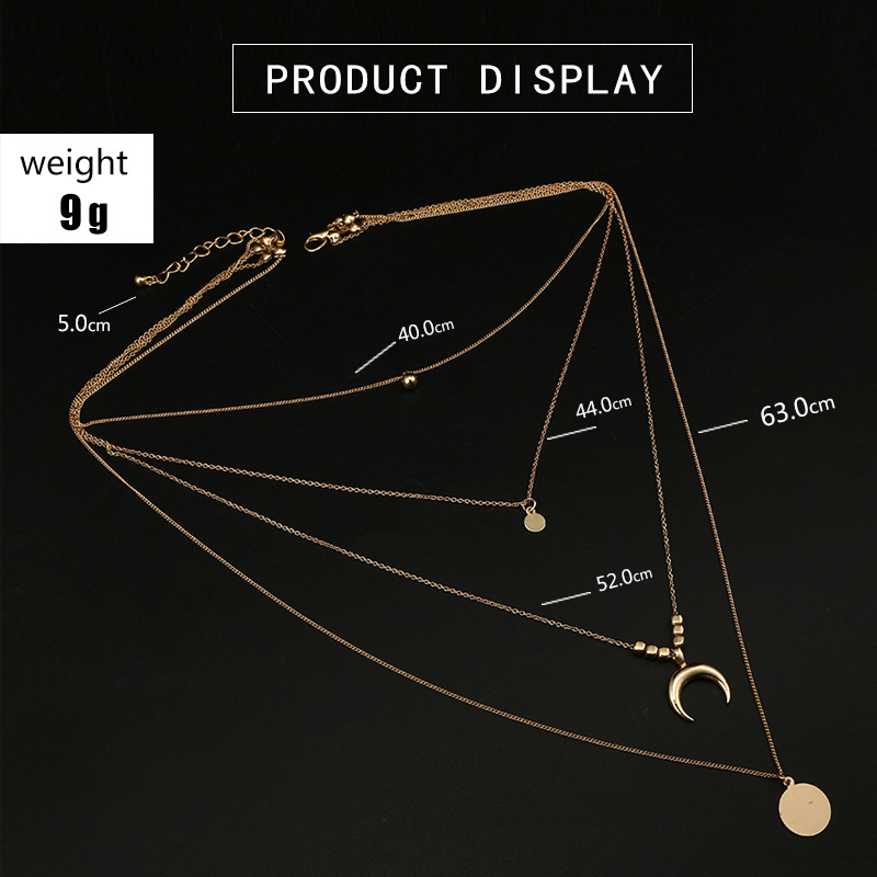 Alloy Vintage Geometric The necklace  6175 NHGY19666175