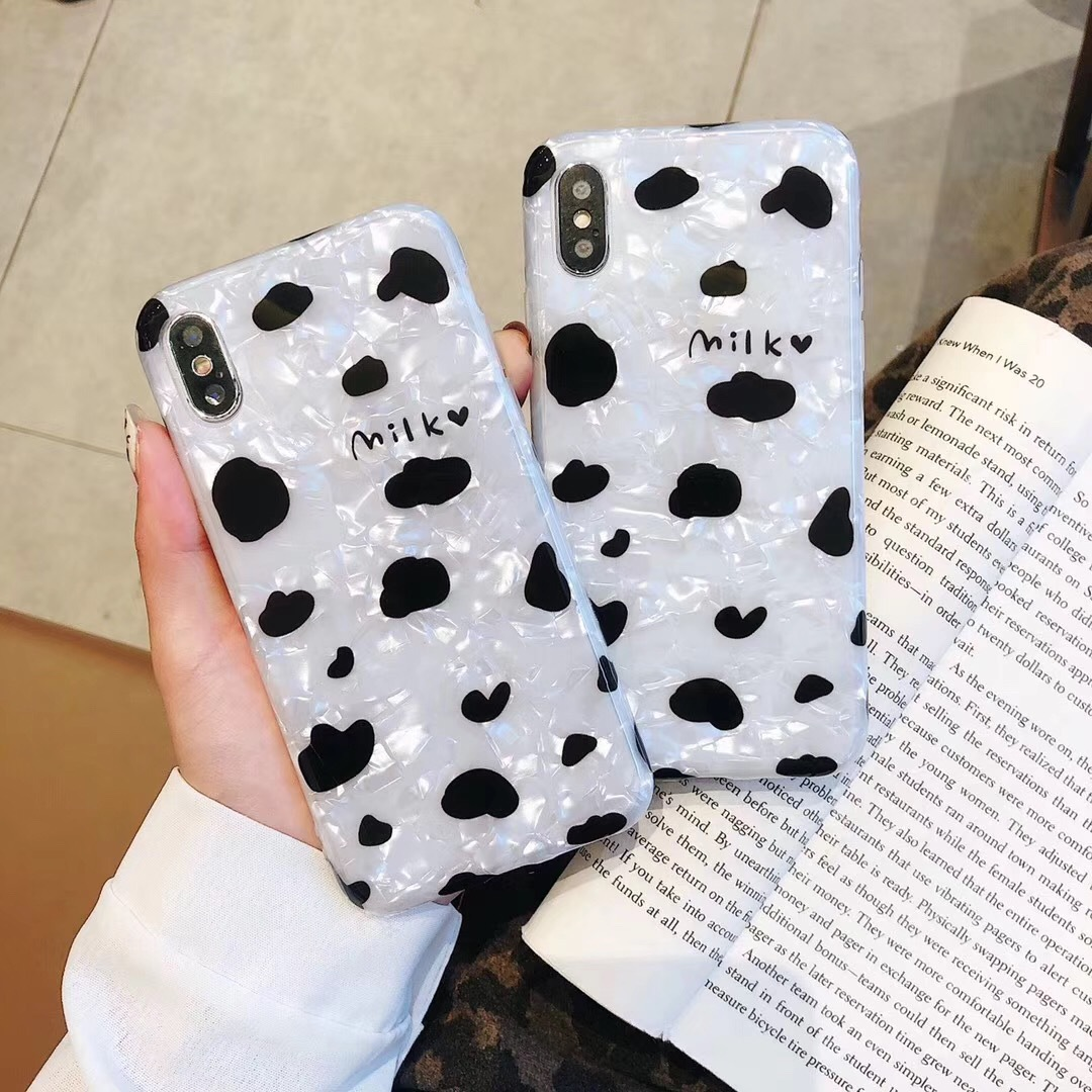 Leopard shell shell mobile phone case for iphoneX Max mobile phone shell creative apple 8p protective cover Mengniu pattern