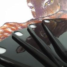 ?#35270;?#19977;星C7亮光黑手机壳 黑色光面tpu 手机保护套