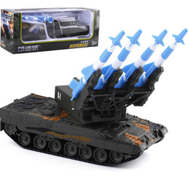 Kaidiwei 1:40 military series anti-aircraft missile tank car alloy model toy box