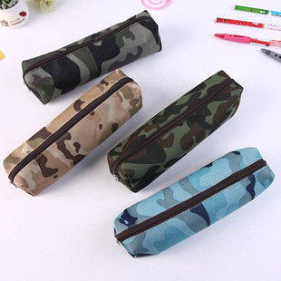 Manufacturer's new learning stationery creative military fashion student large-capacity pencil case stationery bag storage bag wholesale