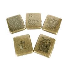 新款烟盒 20支装纯铜两面翻开烟盒 青铜凝花金属翻盖刻花烟具配件