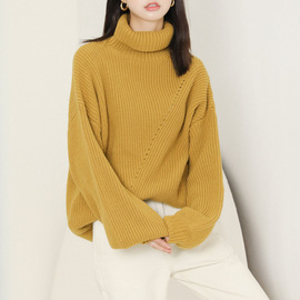 Winter new sweater pullover women's high collar loose fashion student sweater shirt women's clothing