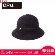 厂家定做秋冬款长兔毛渔夫帽langol刺绣高端毛呢渔夫帽定制批发